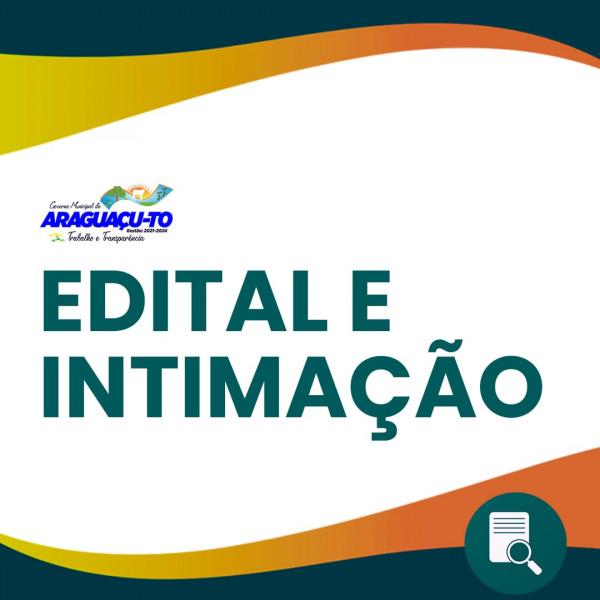 Edital de Termo de Constatação e Intimação nº 00007-2021